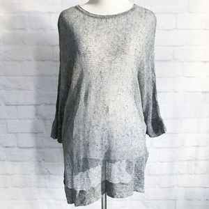 Eileen Fisher Linen Cotton Knit Sweater Tunic